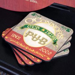 Personalized Irish Pub Coasters
