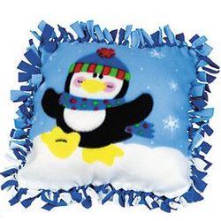 Fleece Penguin Tied Pillow Craft Kit