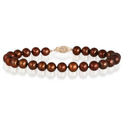 All Natural Freshwater Chocolate Pearl Bracelet