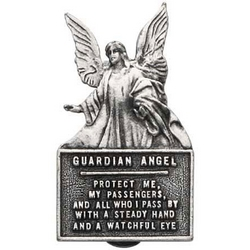 Guardian Angel Protect Us Visor Clip