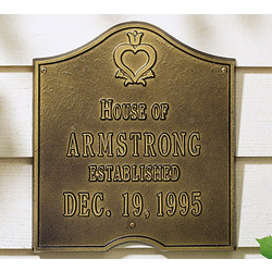 Personalized Pennsylvania Dutch Anniversary Plaque