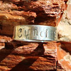 Custom Name or Word Hand-Stamped Sterling Silver Ring
