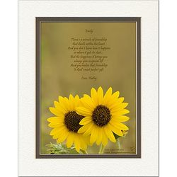 Family or Anyone Poem Personalized Sunflowers Print