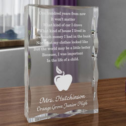 Personalized Teacher's Life of a Child Plaque