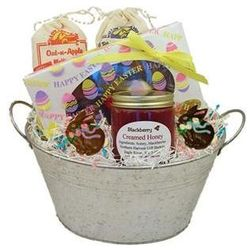 Easter Chocolates and Honey Gift Bucket