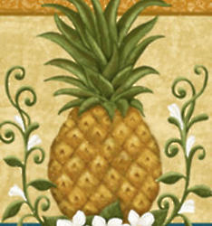 Colonial Pineapple Welcome Garden Flag