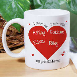 I Share My Heart Coffee Mug