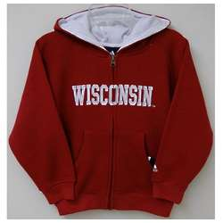 Toddler's Wisconsin Badgers Full Zip Sportsman Hoodie