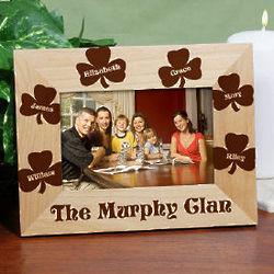 Personalized Irish Family Shamrock Picture Frame