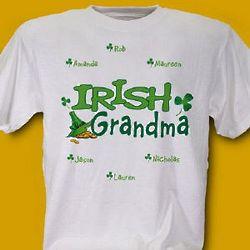 Irish Grandma Personalized T-Shirt