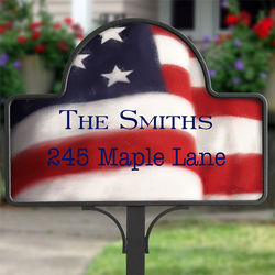 American Flag Yard Stake with Magnet