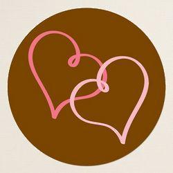 Chocolate Delight Round Label Envelope Seals