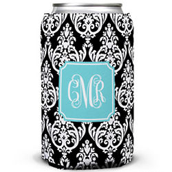 Madison Damask Customized Can Koozie