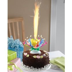 Musical Spinning Flower Birthday Candle