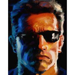 Arnold Schwarzenegger Oil Painting Art Print