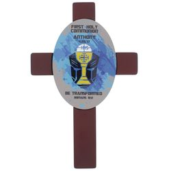 Boy's Personalized Be Transformed First Holy Communion Cross