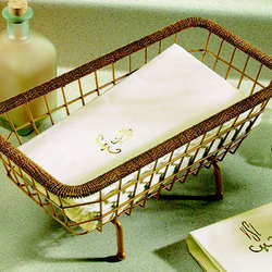 Gold Wire Towel Basket