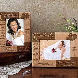 Personalized Bride Wooden Picture Frame