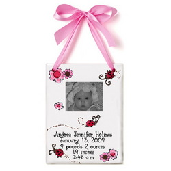 Baby's Birth Certificate Photo Tile