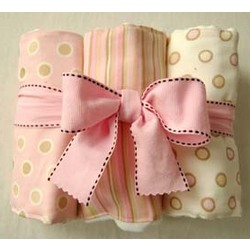 Cotton Candy Burp Cloth Set