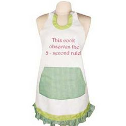 This Cook Observes the 5 Second Rule Apron