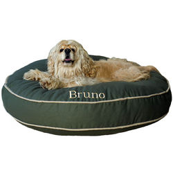Sage Twill Round-A-Bout Dog Bed