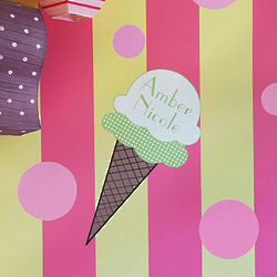 Personalized Ice Cream Cone Wall Decal