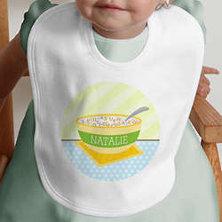 Personalized Cereal Bowl Baby Bib