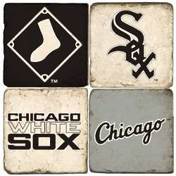 Chicago White Sox Tumbled Italian Marble Coasters