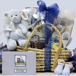 Baby Essentials for Boy Gift Basket