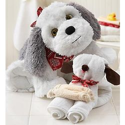 Puppy Plush with Puppy Wash Cloth