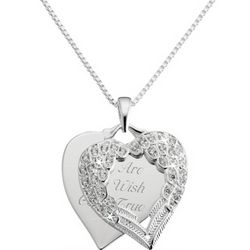 2012 Make-A-Wish Heart Charm Necklace