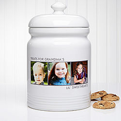 Picture Perfect Three Photos Personalized Cookie Jar