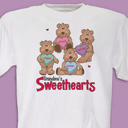 Candy Sweetheart Bears Valentine T-Shirt