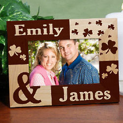 Just the Two of Us Irish Personalized Wood Picture Frame