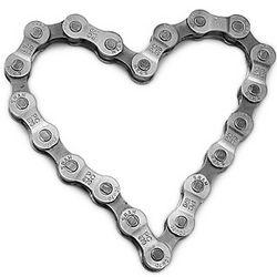 Bike Chain Heart Paperweight