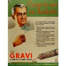 Su Dentista Pasta Gravi Vintage Cuban Ad Poster