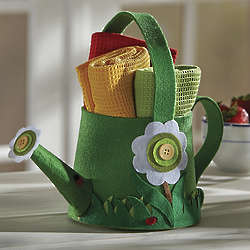 Felt Watering Can and Gift Towel Set