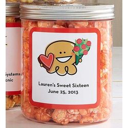 4 Personalized Passion Fruit Popcorn Canisters