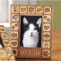 Personalized Pet Burnout Frame with Cat Design