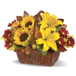 Golden Days Flowers Basket