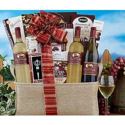 Cliffside White Wine Trio Gift Basket