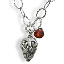 Day of the Dead Silver-Plated Necklace