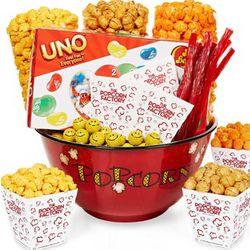 Popcorn Bowl and Snacks