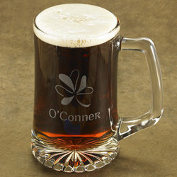 Personalized Shamrock Beer Stein