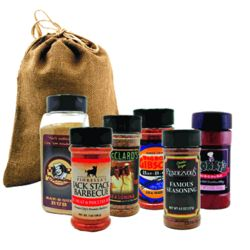 America's Best BBQ Joints Rubs Burlap Gift Bag