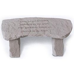 Gone Yet Not Forgotten Small Memorial Garden Bench