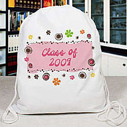 Personalized Floral Retro Sports Bag