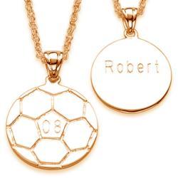 Engraved Soccer Pendant