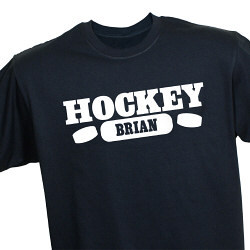 Hockey Fan Personalized Sports T-Shirt
